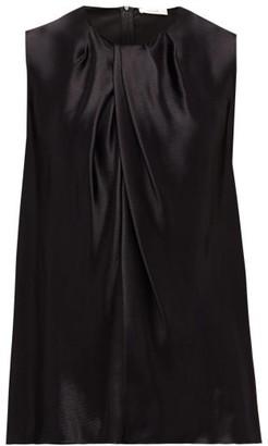 The Row Shira Sleeveless Hammered-satin Top - Womens - Black