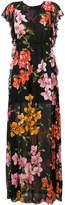 Pinko long floral print dress