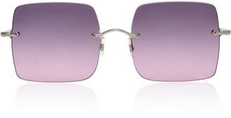 Oliver Peoples Oishe Oversized Rimless Sunglasses