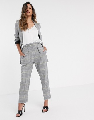 Closet London tailored pants in light check