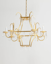 Square 8-Light Crystal Chandelier