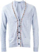 GUILD PRIME beaded fastening button down cardigan - men - Cotton/Ramie - 2