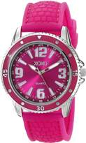 XOXO Women's XO8070 Fuchsia Analog Silicone Strap Watch