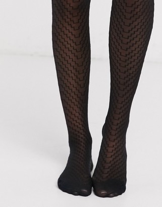 Pretty Polly sheer geo tights in black