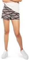 Topshop Women's Matchstick Print Shorts