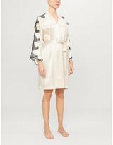 Selfridges Nk Imode Nicole lace-trimmed satin-silk robe