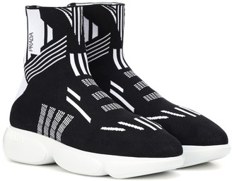 Prada Knit high-top sneakers