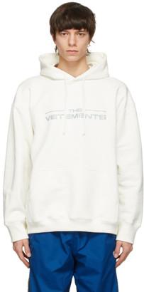 Vetements White The Logo Hoodie