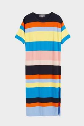 Parker Chinti & Rainbow Julia Striped Cotton Midi Dress