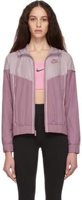 Nike Pink and Purple Sportswear Windrunner Jacket