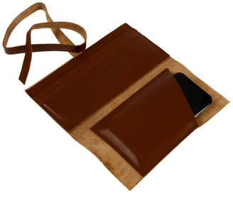 Hedera Leather Wallet Brown