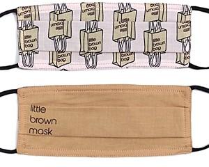 Echo Little Brown Bag & Little Brown Mask Face Masks, Set of 2