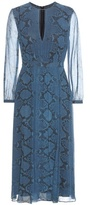 Burberry Jennifer printed silk midi dress