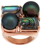 Honora Cultured Pearl & Shell Doublet Bronze Ring