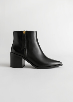 And other stories Pointed Leather Ankle Boots