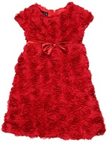 Biscotti Standing Ovation Rosette S/S Dress (Toddler) (Red) - Apparel