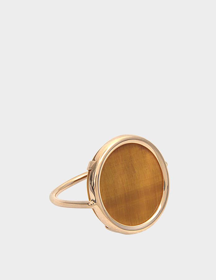 ginette_ny Ever Turquoise Square 18-karat rose gold ring