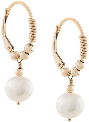 Petite Grand Little Pearl Hoop Earrings