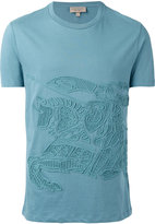 Burberry embroidered T-shirt - men - Cotton - M
