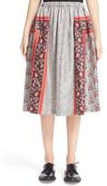 Comme des Garcons Women's Twill Scarf Print Dirndl Skirt
