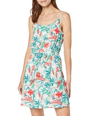 Vero Moda Women's Vmsimply Easy Singlet Short Dress, Multicolour AOP:Betty-Snow White, (Size of : XL)
