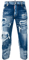 DSQUARED2 Tomboy patchwork distressed jeans - women - Cotton/Spandex/Elastane - 38