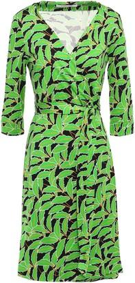 Diane von Furstenberg Printed Silk-jersey Wrap Dress