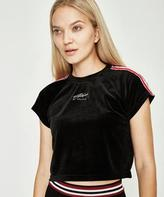 Stussy Tape Crop Raglan T-shirt Black