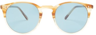 Oliver Peoples O'malley Round Acetate Sunglasses - Tortoiseshell