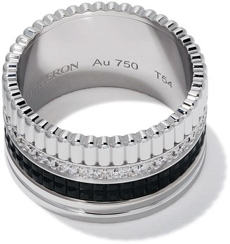 Boucheron 18kt white gold Diamond Quatre Black large ring