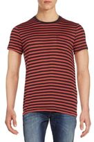 J. Lindeberg Striped Patch-Pocket Tee