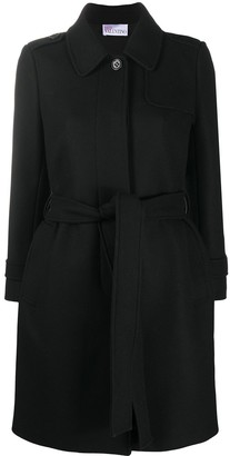 RED Valentino Pleat-Detail Belted Coat