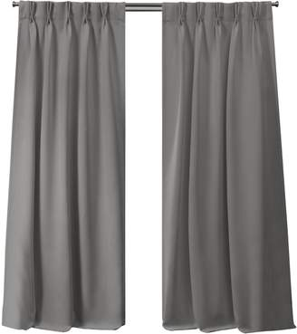 Home Outfitters Exclusive Home Sateen Twill Woven Blackout Pinch Pleat Window Curtain Panel Pair