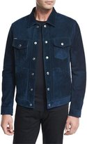 Tom Ford Suede Utility Jacket, Bright Azzure