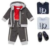 HUGO BOSS Kids' hooded jacket in stretch cotton blend: 'J05518'