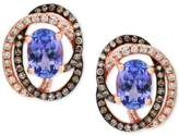 Effy Tanzanite Royalé by Tanzanite (1-1/3 ct. t.w.) and Diamond (1/3 ct. t.w.) Stud Earrings in 14k Rose Gold