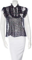 Anna Sui Printed Appliqué Top