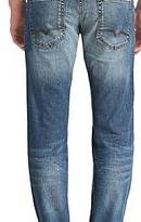 Hugo Boss Regular-fit jeans in distressed indigo denim