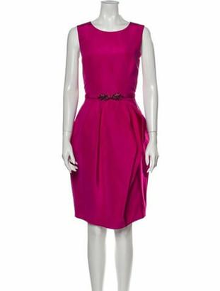 Oscar de la Renta 2015 Knee-Length Dress Pink