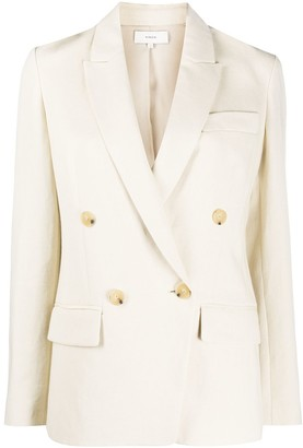 Vince Textured Double Breasted Blazer