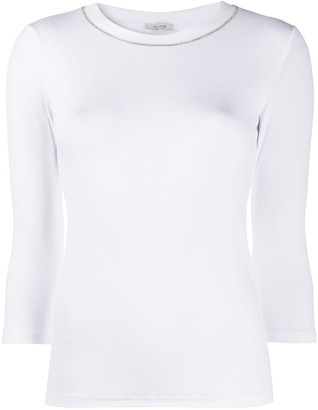 Peserico chain-embellished slim-fit T-shirt
