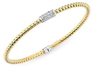 Alberto Milani Via Bagutta 18K Gold & Diamond Coiled Bangle Bracelet