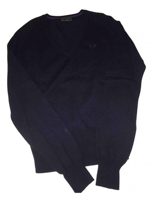 Fred Perry Blue Wool Knitwear