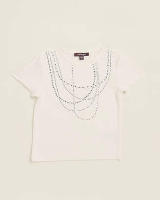 Imoga Toddler Girls) Embellished Necklace Tee