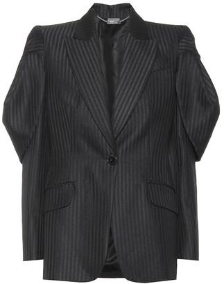 Alexander McQueen Wool-blend pinstriped blazer