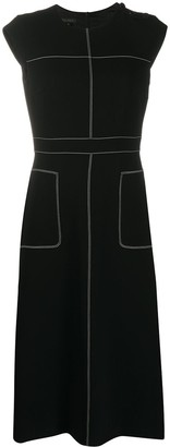Escada Sleeveless Stitch Detail Dress