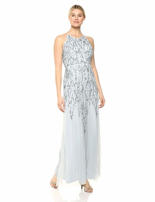 Marina Women's Halter Neck Beaded Evening Gown
