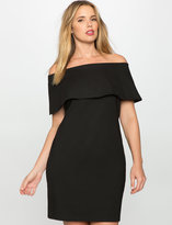 ELOQUII Off the Shoulder Dress with Overlay