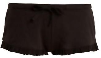 Skin Raffaela Cotton Pyjama Shorts - Black