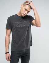 AllSaints T-Shirt with Distortion Print